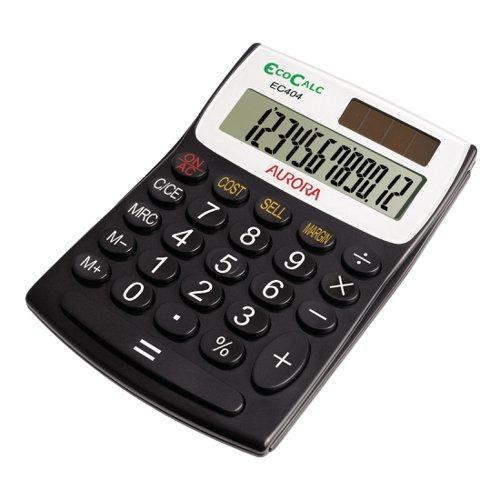 Aurora EcoCalc 12 Digit Semi Desk Calculator EC404