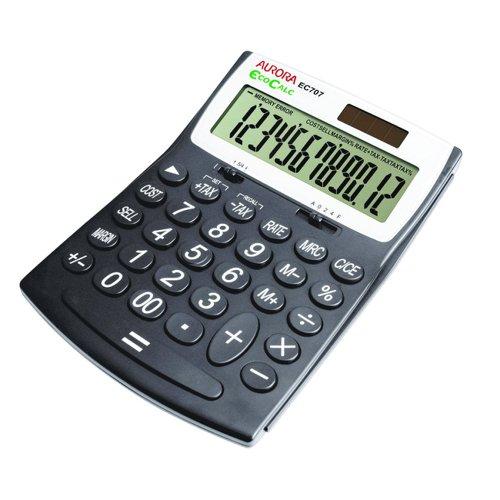 Aurora EcoCalc 12 Digit Large Desktop Calculator EC707
