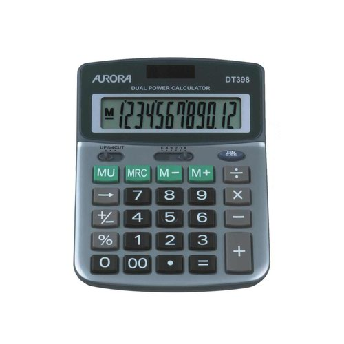 Aurora Professional 12 Digit Semi-Desk Calculator DT398