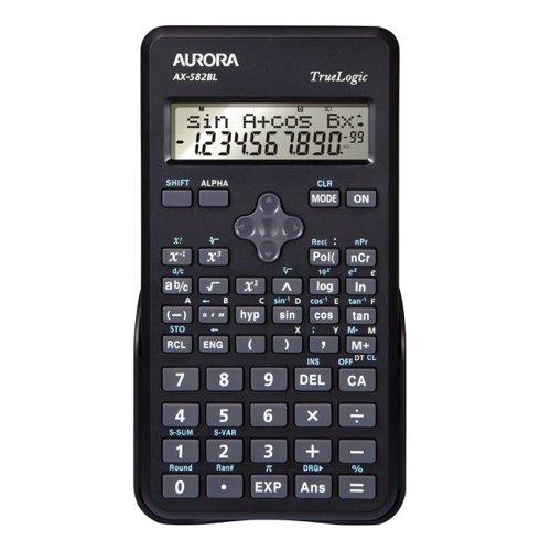 Aurora Scientific Calculator Black AX-582BL