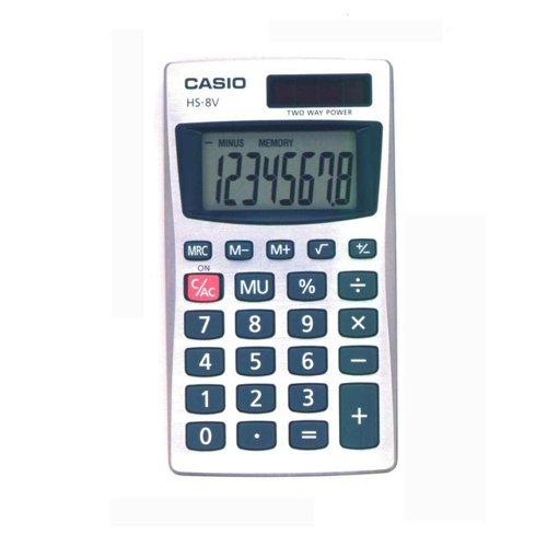 Casio Pocket Calculator Black HS8VA