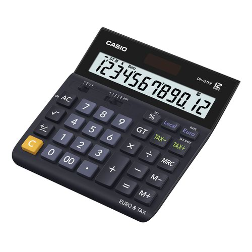 Casio Large Desk Calculator 12 Digit White DH-12TER