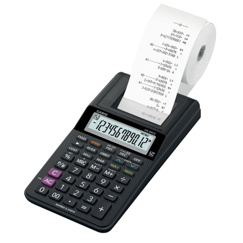 Casio Printing Calculator Black HR-8RCE