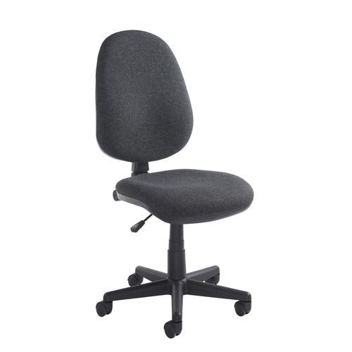 Bilbao Fabric Operator Chair No Arms Charcoal BILB1-C