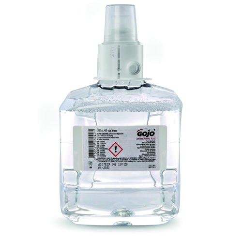 GOJO LTX-12 Mild Antimicrobial Foam Handwash Refill 1200ml (2) 1952-02-EEU0