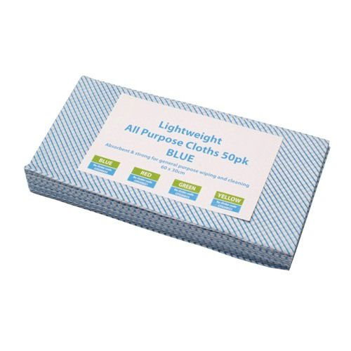 All Purpose Lightweight Cleaning Cloths Blue (50)