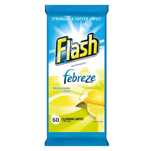 Flash Strong Weave Lemon Cleaning Wipes (120) 0706067