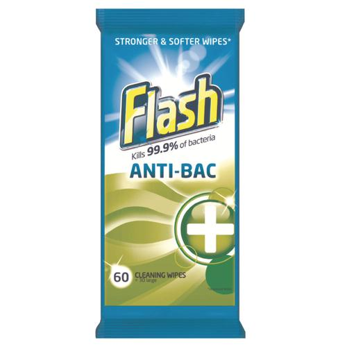 Flash Strong Weave Antibacterial Cleaning Wipes (60)