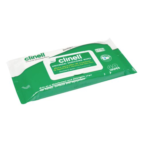 Clinell Universal Sanitising Wipes (40) GCW40