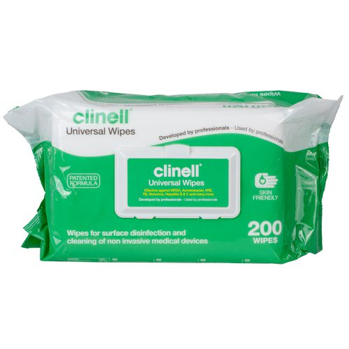Clinell Universal Sanitising Wipes (200) GCW200
