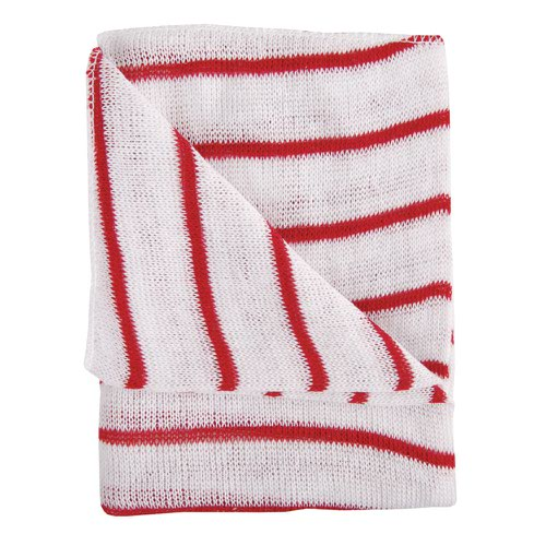 Hygiene Dishcloth 406x304mm Red & White (10)