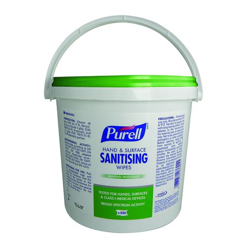 PURELL Hand and Surface Wipes Bucket (225)
