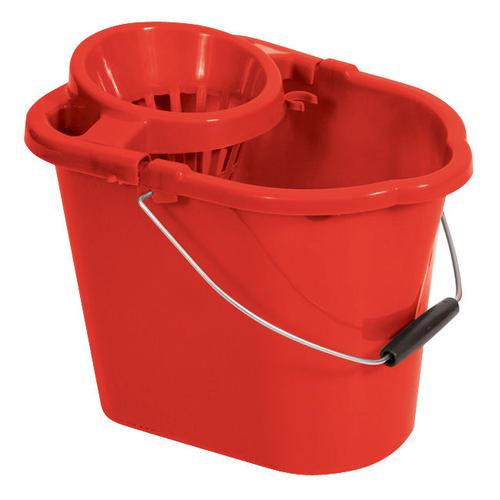 Oval Mop Bucket Red 12 litre MBPR