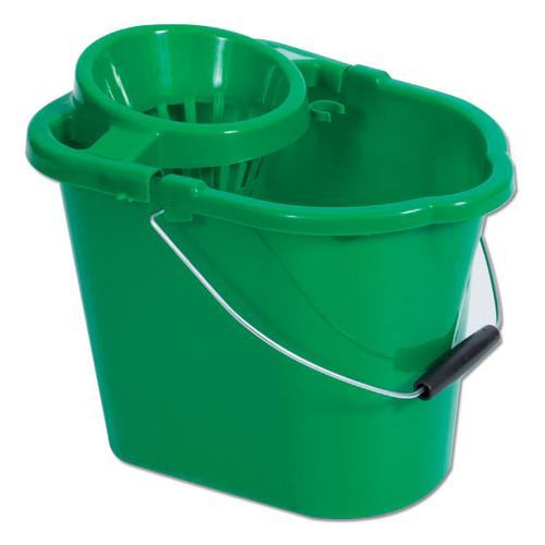 Oval Mop Bucket Green 12 litre MBPG