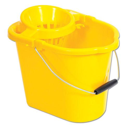 Oval Mop Bucket Yellow 12 litre MBPY