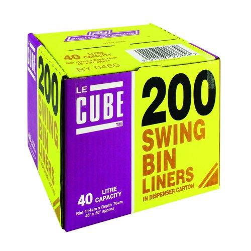 Le Cube Swing Bin Liners 40 Litre (200)