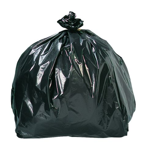 Refuse Sacks Economy 95 Litre 450x735x864mm 18mic Black (200)