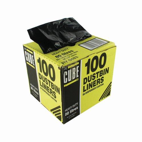 Le Cube Dustbin Liners 96 Litre (100)