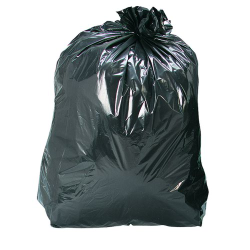 Refuse Sack Medium Duty Recycled 110 Litre 450x735x990mm 25mic Black (200)