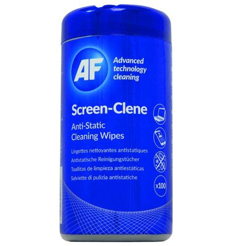 AF Screen-Clene Wipes Tub (100) SCR100T