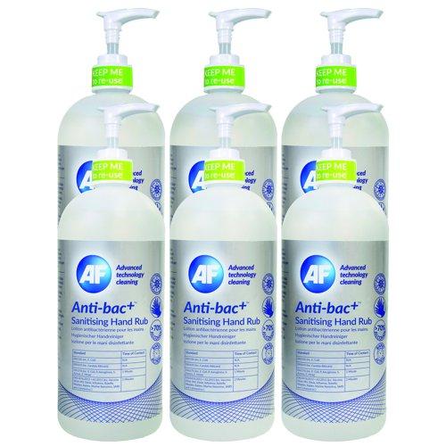 AF Anti-bac Sanitizing Hand Rub 500ml (6) ABHHR500_6