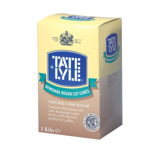 Tate & Lyle Rough Cut Sugar Cubes Demerara 1kg