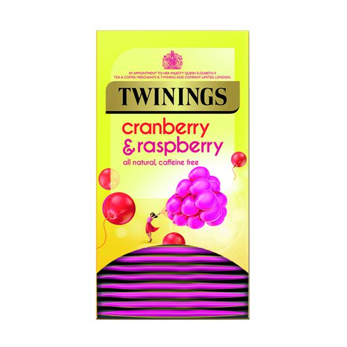 Twinings Fresh & Fruity Tea Bags Cranberry Raspberry & Elderflower (20)
