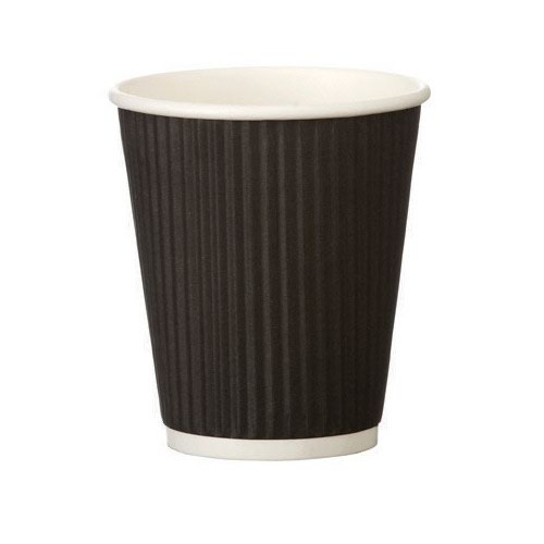 Triple Wall Ripple Cup Black 25cl/8oz (500)