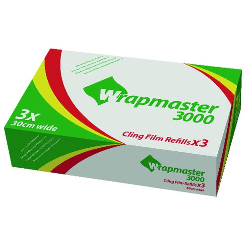 Wrapmaster 3000 Cling Film Refill 300mm x 30m (3) H01759