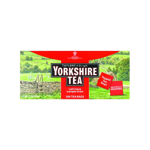 Yorkshire Tea String and Tag Tea Bags (200)