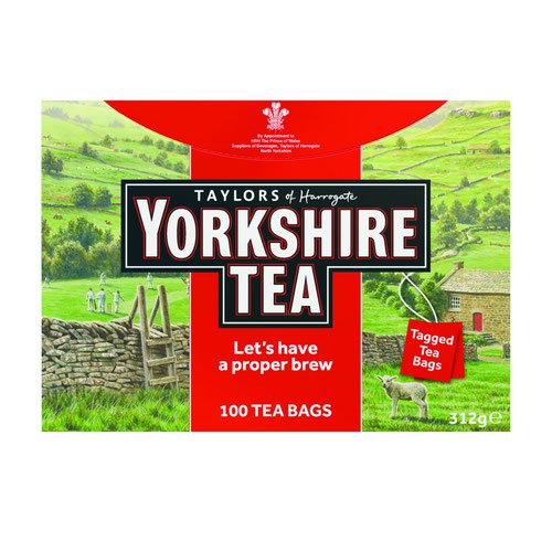 Yorkshire Tea String and Tag Tea Bags (100)