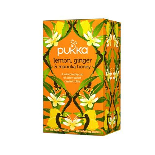 Pukka Lemon Ginger and Manuka Tea (20) P5049