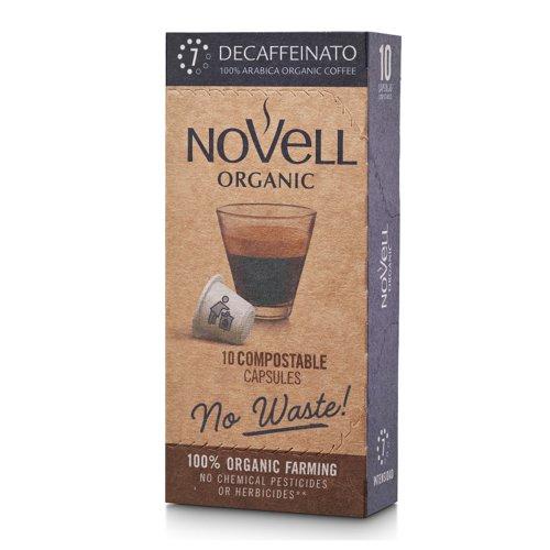 NOVELL DECAFFEINATO No Waste Capsules Nespresso Compatible (10)