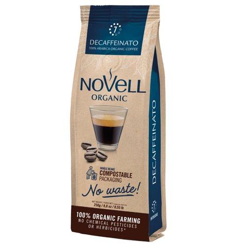 NOVELL DECAFFEINATO No Waste Whole Beans Coffee 250g