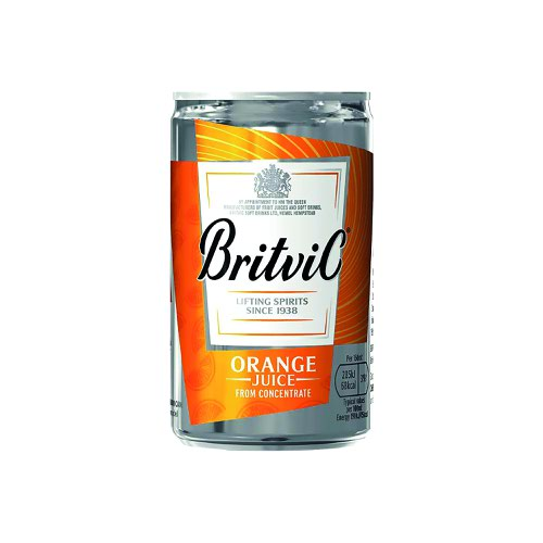 Britvic Orange Juice Can 330ml (24)