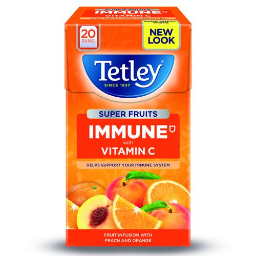Tetley Super Fruit Infusion Immune Peach & Orange (20)