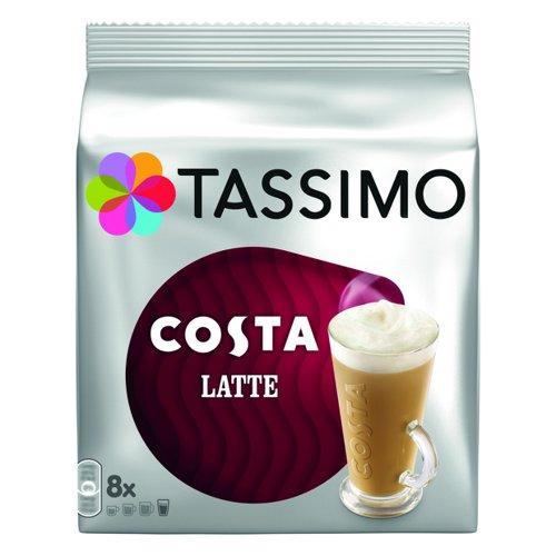 Tassimo Costa Latte Coffee Capsules Pk5