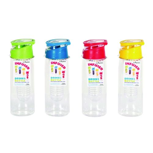 Infuser Water Bottle Assorted Colours (12)