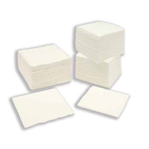 Paper Napkins 2-Ply 400x400mm White (100)