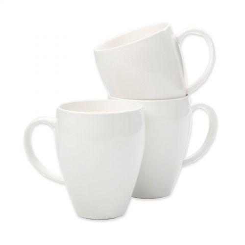 Earthenware Mugs White (6)
