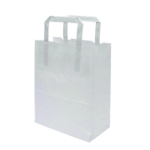 Kraft Carrier Bag 175x95x215mm White (500)