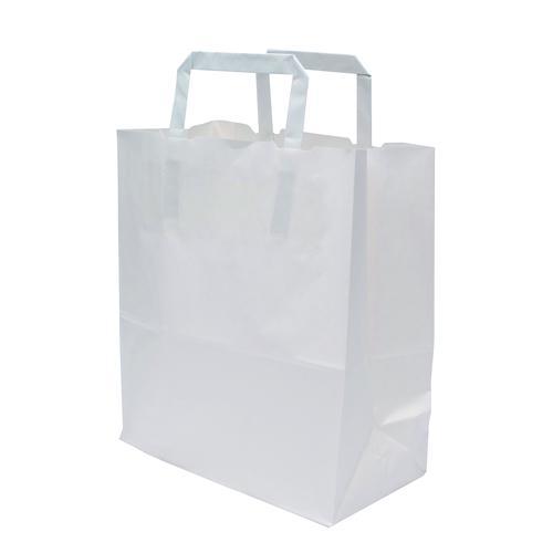 Kraft Carrier Bag 250x140x305mm White (250)