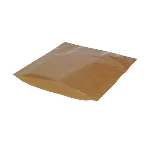 Kraft Film-Front Bags 250x250mm Brown (1000)