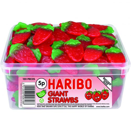 Haribo Giant Strawbs Tub (120) 9547