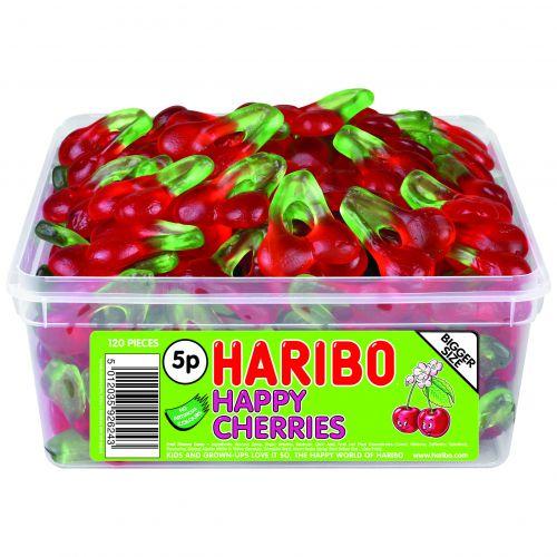 Haribo Giant Happy Cherries Tub (120) 12244
