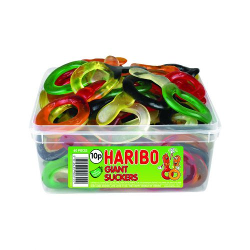 Haribo Giant Suckers Tub (60) 13544