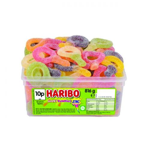 Haribo Giant Sour Suckers Tub (60) 13444