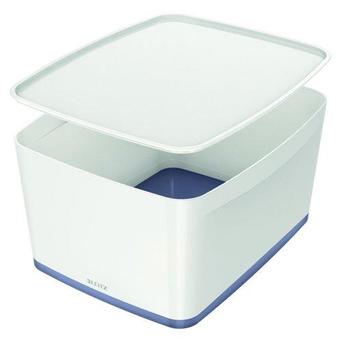 Leitz MyBox Storage Box with Lid Large White/Grey 52161001