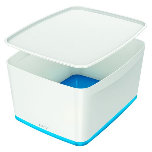 Image for Leitz MyBox Large with Lid WOW White Blue
