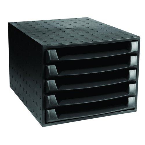 Exacompta Forever 5 Drawer Set Black 221014D